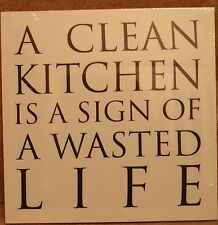 "A Clean Kitchen 15"" x 15"" Classic Canvas On A Wooden Stretcher Frame"