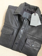 Popper Leather Biker Jackets for Men