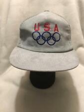 Vintage Team USA Olympics Corduroy Snapback Hat Cap