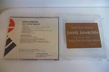 DAVID SANBORN QUIET STORM SAMPLER CD PROMO 4 TITRES.