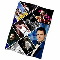 Freddie Mercury Flag Banner Collage Textile Fabric Poster Love Of My Life