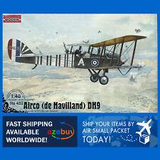 Airco de Havilland D.H.9 Bomber Aircraft 1/48 Scale Plastic Model Kit RODEN 423