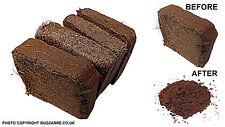 Coir Brick ,Vivarium Substrate, Reptiles,Spiders,Snails 4  x 2LTR Mini Bales