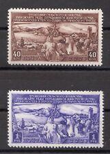 Russia 1949 Sc.1408-9 Zag 1362-3 Sheep, Kettle and Farm  MLHOG CV $20.00