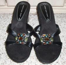 4df1fd039789c New~LOWER EAST SIDE Jeweled Platform Slide Sandals~Black~Size 10