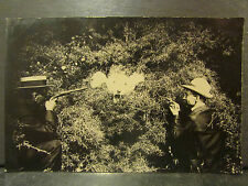 cpa photo chasse a l' ours humour humoristique chasseurs