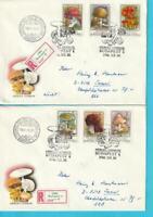Hungría 1986 FDC Minr. 3871-3876A Acuse de Recibo Cartas Setas