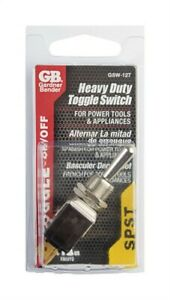Gardner Bender GSW-127 15 Amp 2HP Durable SPST Heavy Duty Toggle Switch
