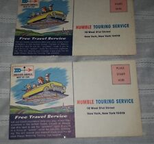 1960s Humble Touring Service Request - Esso Gas Station Set of 2