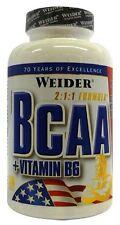 WEIDER Nutrition BCAA 130 SCHEDE. BCAA 2:1:1 PLUS Formula Vitamina b6-GRATIS P&P