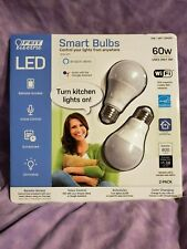 FEIT ELECTRIC SMART BULBS 2 PACK OPENED WIFI ONLY BPA800/RGBW/AG/2
