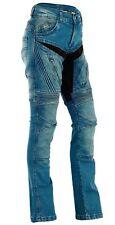 Damen Motorrad Jeans Motorradhose Denim mit Protektoren blau 28 - 36 inch