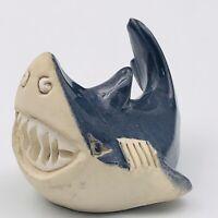 Vintage Artesania Rinconada Adult Smiling Shark #62 Figurine Big Teeth Jaws