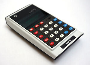 COMMODORE CBM CUSTOM Green Line GL997R Vintage Calculator Taschenrechner 1975