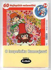 Rumcajs 4 x DVD collection set Czech well known cartoon Ladislav Capek