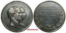 GERMANY Medal 1861 Wilhelm I and Princess Augusta Anniversary Coronation 45,5mm