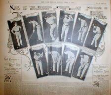 <1899 newspaper POSTER EASTER JESUS CHRIST Findlay Douglas US Amateur Golf Champ