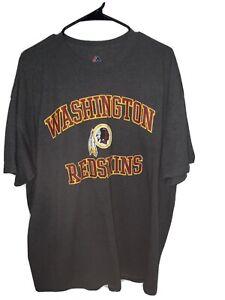 Washington Redskins 2XL Majestic T-Shirt New With No Tags Dark Gray NFL Football