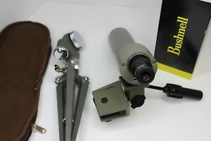 Bushnell Sentry 50mm Spotting Scope 20x 50 Vintage with Box and Tripod + More