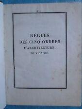 DELAGARDETTE : REGLES 5 ORDRES D'ARCHITECTURE + TRAITE DES OMBRES, 1823. 75 pl.