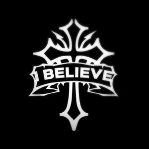Christian Faith I Believe Decal Sticker For Car Van Window Bumper Jesus Easter