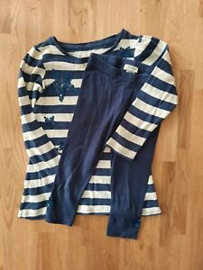 Gorgeous Two Piece Outfit, Smock Top & Leggings, Navy & Grey with Stars  Next