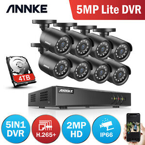 ANNKE 8+2 Channel 5MP Lite DVR Bullet CCTV 3000TVL Camera Surveillance System IR
