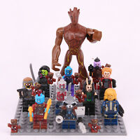 11 Pcs Guardians of the Galaxy 2 7CM Groot Rocket Marvel with board custom Lego