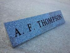 "Granite Nameplate (personalized)  Gray (16""x3""x3"")"