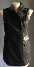 MYNT 1792 Black Long Line Vest/Sleeveless Jacket Plus Size 12-14 (X)