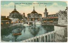 c1915 Coney Island New York Lagoon and Shoot the Chutes