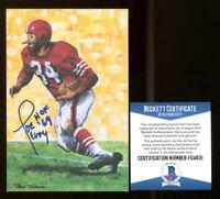 Joe Perry Signed Goal Line Art GLAC Autographed w/HOF 49ers Beckett BAS