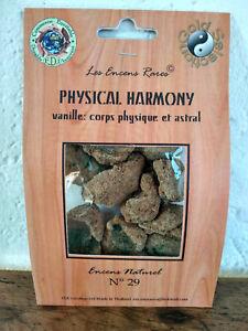 Encens rare Physical harmony :corps physique ingrédients naturels équitable n°29