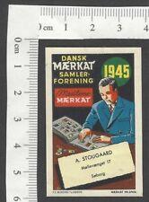 Denmark 1945 Sticker Collector's Association poster stamp