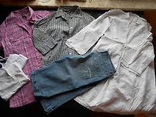 6 Tl.Damenpaket Mädchen Gr.38 H&M One love Denim Bluse Short Hemd