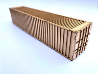 40ft SHIPPING CONTAINER LASER CUT KIT OO SCALE 1:76 MODEL RAILWAY LX179-OO