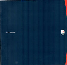 La Maserati 2000-01 English & Italian Corporate Brochure 3200 GT Quattroporte