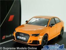 AUDI RS3 MODEL CAR 1:43 SCALE ORANGE SALOON SCHUCO DEALER SPECIAL A3 RS 3 K8