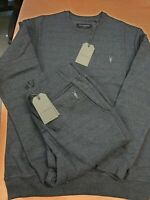 All saints Men's Brand New (Full Tracksuit)Top Jumper Sweatshirt Joggers Bottoms