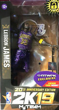 McFarlane NBA 2K19 Los Angeles Lakers LeBron James Purple Jersey
