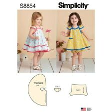 Simplicity Sewing Pattern S8854 Toddlers Girls ½-4 Dresses Pinafore and Panties