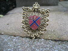 Vintage Great Britain Coat of Arms Brass Pin Brooch