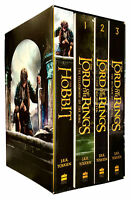 J. R. R. Tolkien The Lord Of The Rings The Hobbit 4 Books Collection Boxed Set