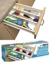 Snap Fit Drawer Divider Organiser Expandable Wardrobe Kitchen Office Storage