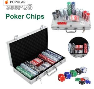 Casino Poker Set 300 Pcs Chips, Texas Hold Em Cards Plus Dice