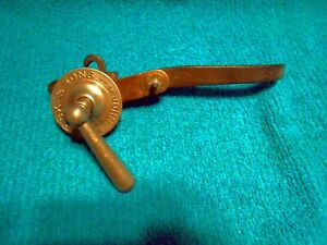 Antique Plumbing Fixture 1910 John Maddock & Sons Toilet Bowl Flush Handle