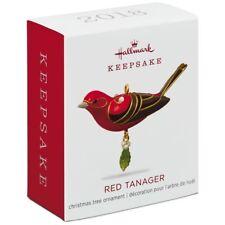 Hallmark 2018 Red Tanager Beauty of Birds Miniature Christmas Ornament