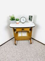 Mid Century Magazine Carte, 50s Telephone Table, Vintage Record Player Stand 60s