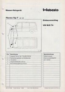 VW Bus T4 - Reparaturleitfaden - Webasto Aufrüstung Zusatz- zur Standheizung
