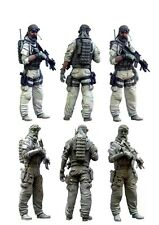 1/35 RESIN MODEL KIT FIGURE US SPECIAL FORCES (1 TOP QUALITY MOLDED FIGURE)